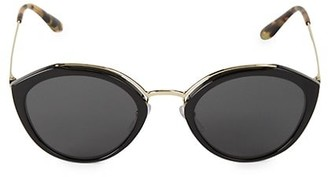 Prada 53MM Phantos Brow Bar Round Sunglasses