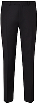 John Lewis Wool Basket Weave Regular Fit Dress Suit Trousers, Black