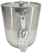 Threshold Hammered Metal Ice Bucket with Tongs