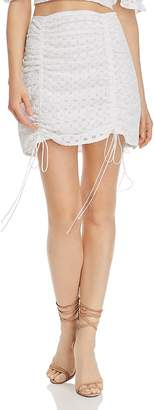 For Love & Lemons Montauk Eyelet Mini Skirt
