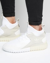 adidas Tubular X Primeknit Sneakers In White S80130