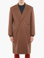 Cmmn Swdn Jacquard Single-Breasted Wool Coat
