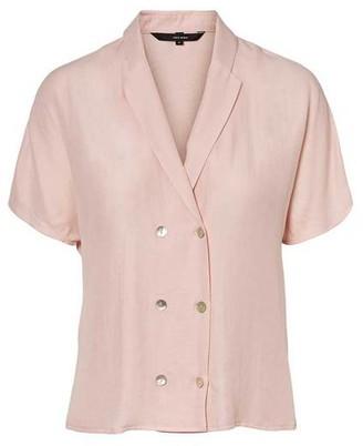 Vero Moda Anya Short Sleeve Shirt Sepia Rose - L