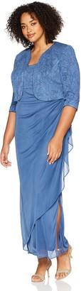 Alex Evenings Women's Plus Size Empire Waist Bolero Jacket Dress