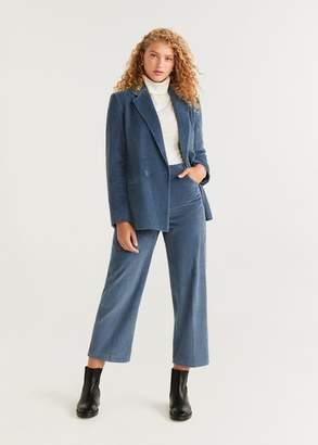 MANGO Corduroy structured blazer blue - 2 - Women