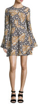 A.L.C. Trixie Printed Silk Mini Dress, Multi