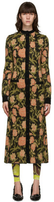 Paco Rabanne Multicolor Mohair Floral Long Cardigan