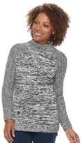 Croft & Barrow Petite Mockneck Cable Sweater