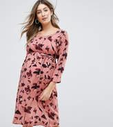 Mama Licious Mama.licious Mamalicious Floral Printed Dress