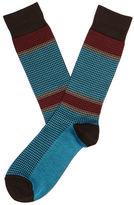 Perry Ellis Mercerized Cotton Mini Houndstooth Sock