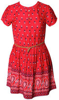 Dex Short Sleeve Printed Dress