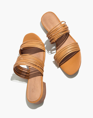 Madewell The Meg Slide Sandal in Leather