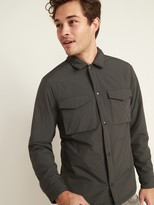 Old Navy Water-Resistant Nylon Snap-Front Shirt Jacket for Men