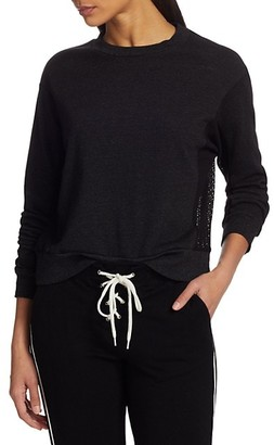 Monrow Mesh Mix Sweatshirt