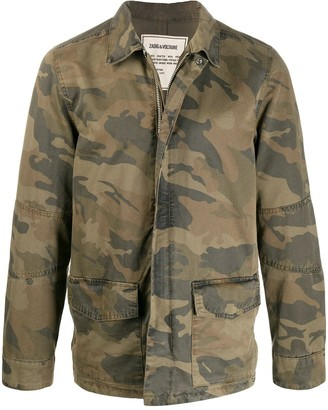 Zadig & Voltaire Camouflage Print Military Jacket