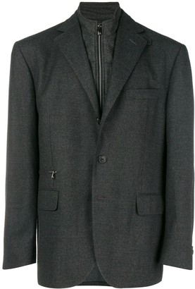 Corneliani funnel neck blazer