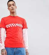 Vans Double Layer T-Shirt In Red Exclusive To Asos