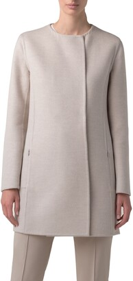 Akris Madrisa Reversible Double Face Wool & Cashmere Coat