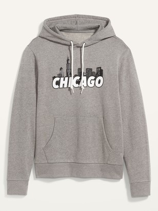 Old Navy Chicago Graphic Pullover Hoodie for Men