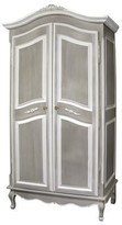 The Well Appointed House French Armoire with Full Door in Gustavian Strie in Grey