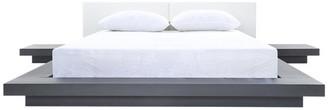VIG Furniture Modrest Opal Modern Wenge and White Platform Bed, Eastern King