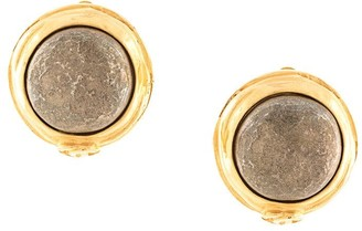 Chanel Pre Owned round stone CC earrings