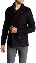 Zadig & Voltaire Mark Caban Wool Blend Peacoat