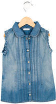 Dolce & Gabbana Girls' Pleated Denim Dress