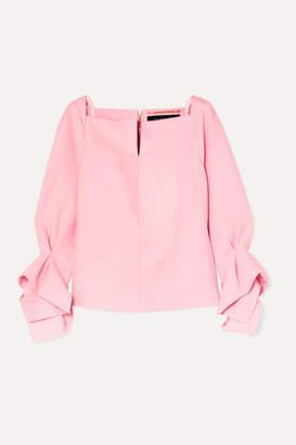 Roland Mouret Tybee Draped Crepe Top - Pink