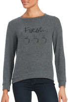 Honey Punch First Coffee Knit Sweatshirt