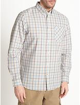 John Lewis Modern Tattersall Check Shirt, Ecru