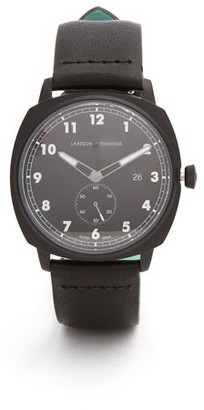 Larsson & Jennings Mk I Pilot Stainless-steel And Leather Watch - Mens - Black