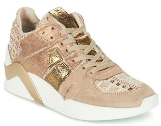 Serafini CHICAGO women's Shoes (High-top Trainers) in Beige