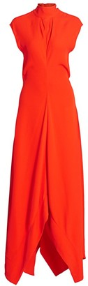 Proenza Schouler Crepe Mockneck Gown