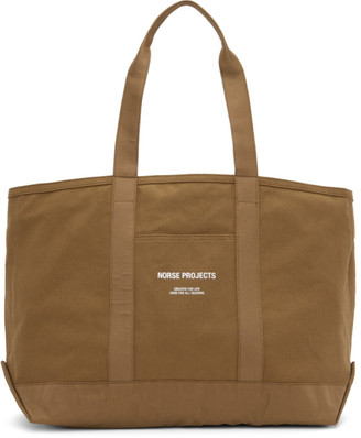 Norse Projects Brown Canvas Stefan Tote