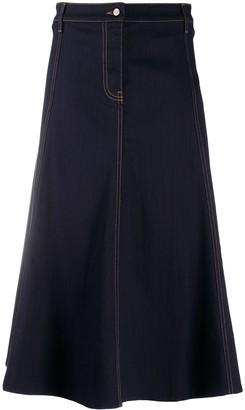 Valentino A-line denim skirt