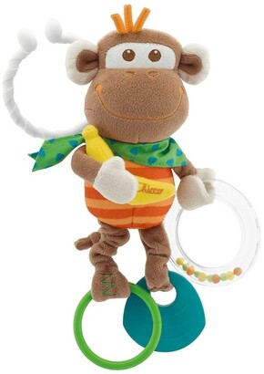 Chicco Multi Activity Vibrating Monkey Tactile Rattle No