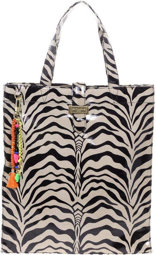 Paul's Boutique Zebra Matilda Shopper Bag