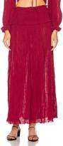 Zimmermann Shirred Waist Skirt in Burgundy | FWRD