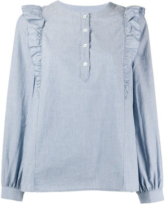 A.P.C. ruffled shoulder blouse