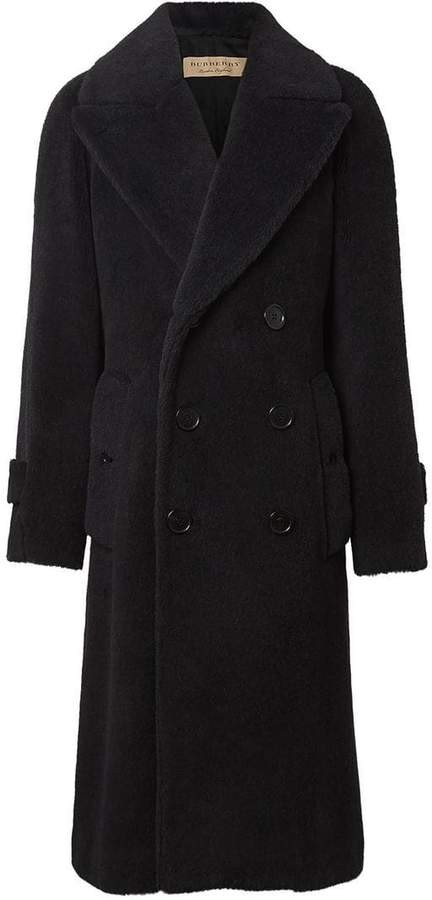 Burberry Alpaca Wool Cotton Double-breasted Coat