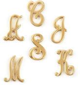 Jennifer Zeuner Jewelry Gold Initial Earring, Left