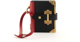 Prada Cahier Notebook Bag Charm Saffiano Leather