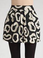 Bubble Camo Mini Skirt