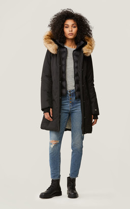 Soia & Kyo ESTEE Thermolite coat with detachable faux fur trim