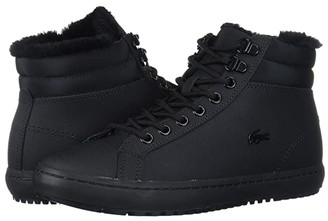 Lacoste Straightset Thermo 419 1 (Black/Black) Women's Shoes