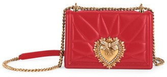 Dolce & Gabbana Medium Devotion Quilted Leather Shoulder Bag