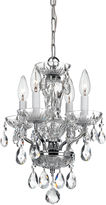 Crystorama Victoria 4-Light Chandelier, Chrome