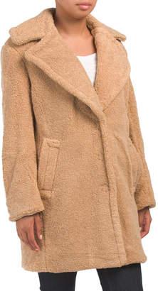 Teddy Bear Button Closure Coat