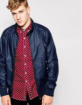Firetrap Waxed Harrington Jacket - Navy